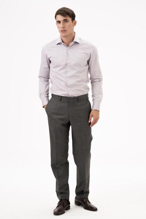 Muške hlače od runske vune 110's - Comfort fit