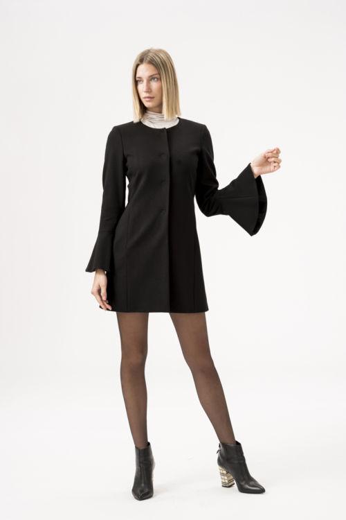 Jersey sako - kaput crne boje