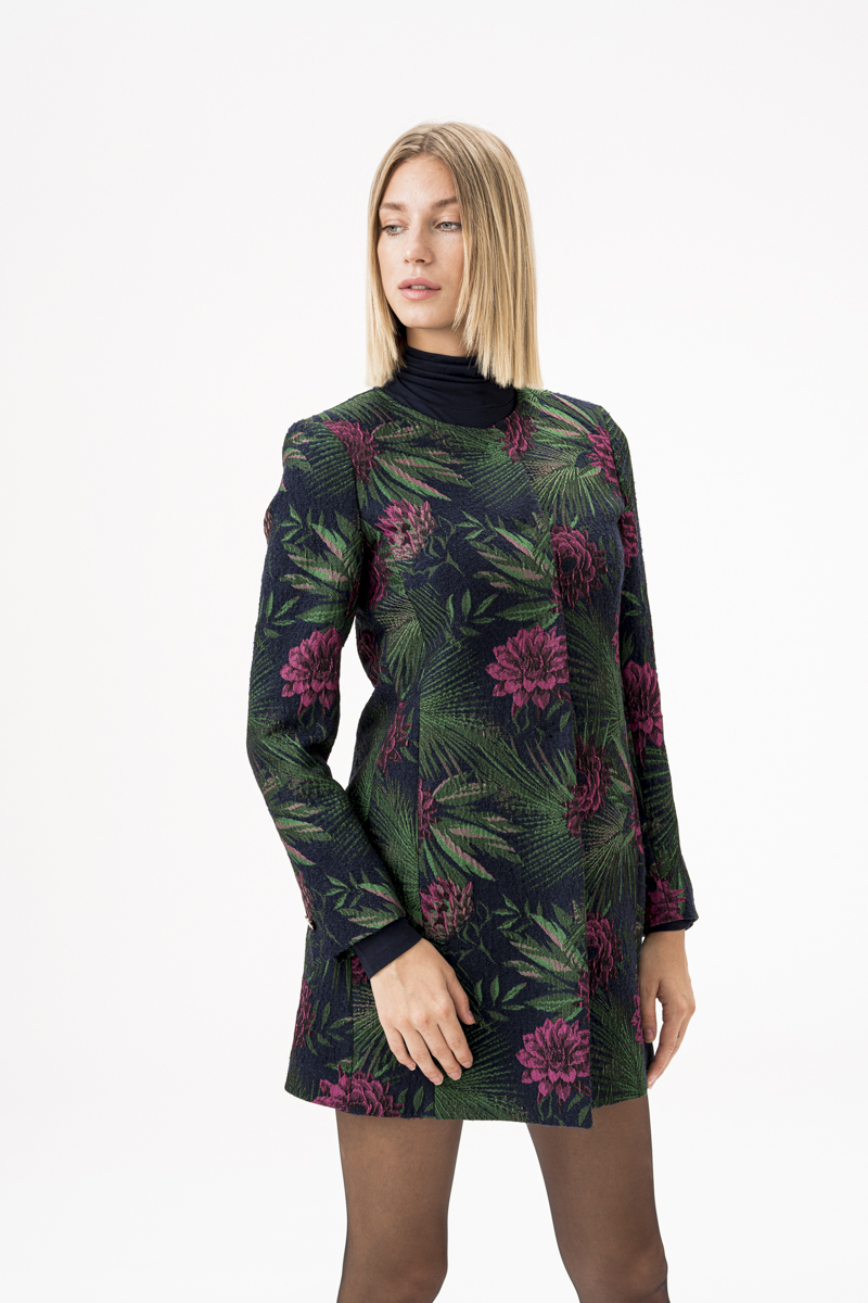 Varteks Women's jacket or coat with floral pattern