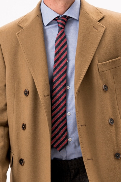 Camel brown men's fleece coat