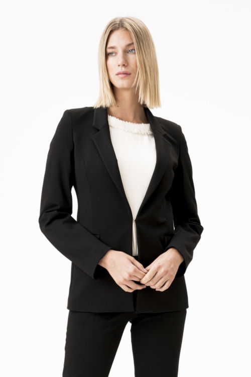 Crni ženski poslovni sako