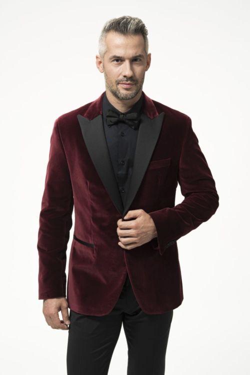 Muški elegantni sako od pliša u dvije boje