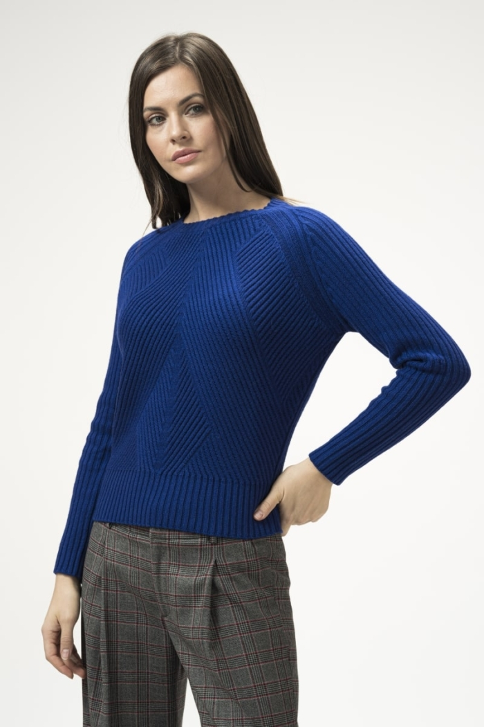 Varteks Women's sweater in three colors with an embossed structure
