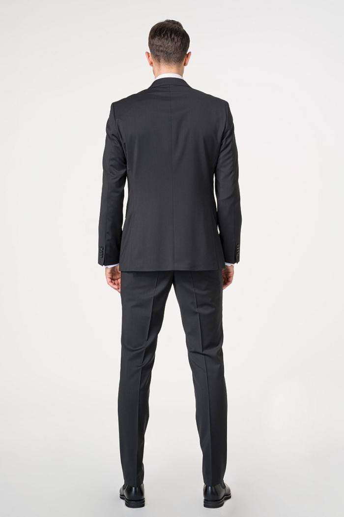 Muško poslovno odijelo crno i tamno plavo 120's - Regular fit