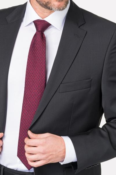 Crni sako od odijela od runske vune Super 120's - Comfort fit