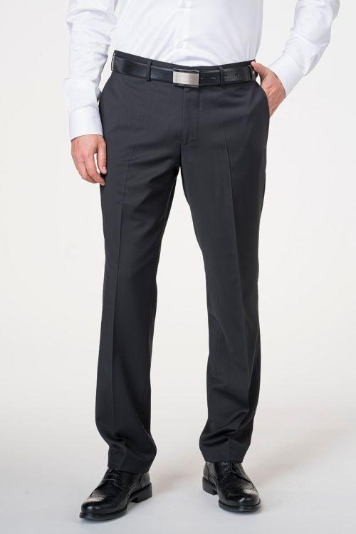 Crne hlače od odijela od runske vune Super 120's - Comfort fit