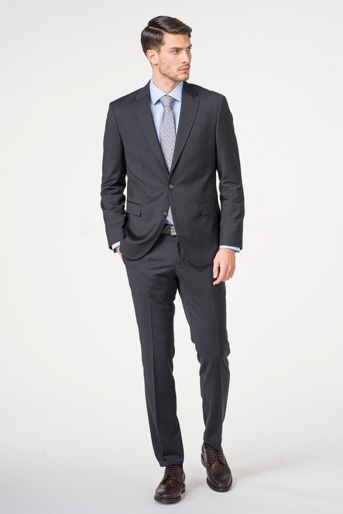 Poslovno muško sivo odijelo - 120's - Regular fit