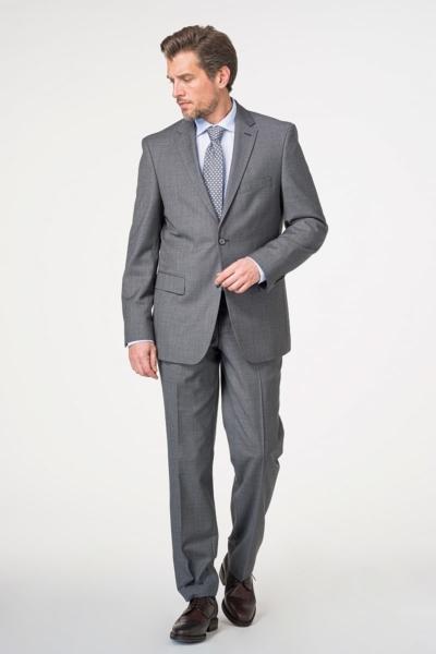 Sivo odijelo od runske vune - Comfort fit