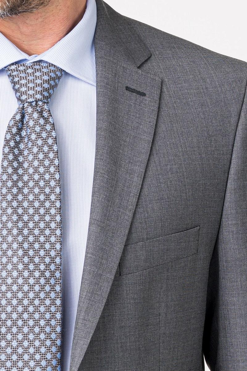 Sivi sako od odijela od runske vune - Comfort fit
