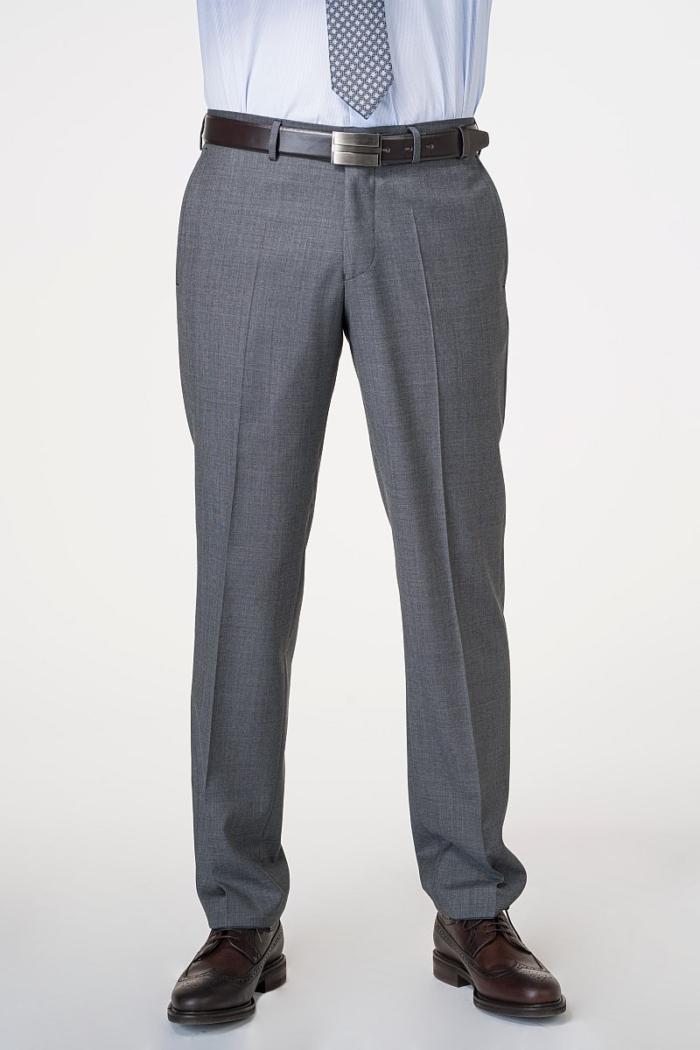 Sive muške hlače od odijela od runske vune - Comfort fit