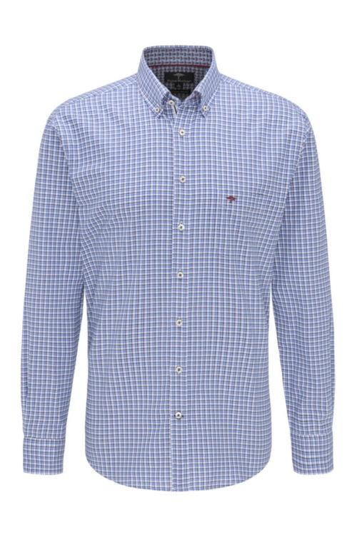 Muška košulja kariranog uzorka plavih tonova - Fynch Hatton