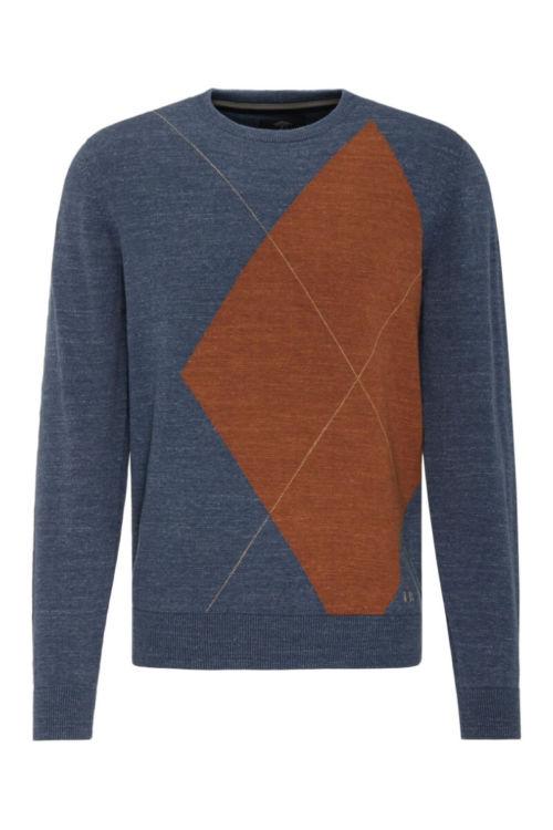 Muški pulover s Argyle printom - Fynch Hatton