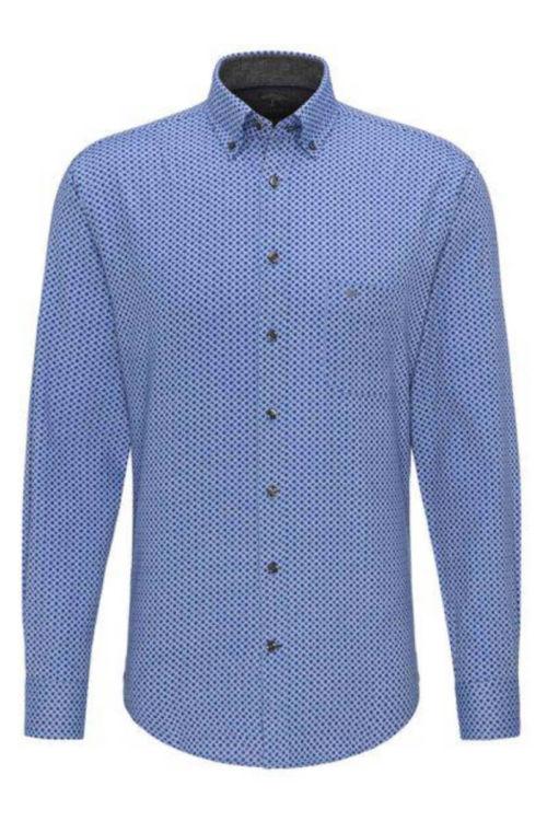 Muška košulja s decentnim uzorkom u dvije boje - Fynch Hatton