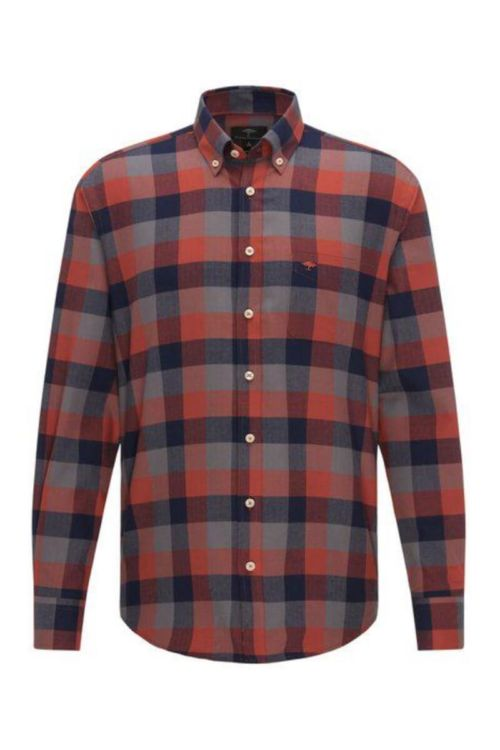Muška košulja kariranog uzorka crvenih tonova - Fynch Hatton
