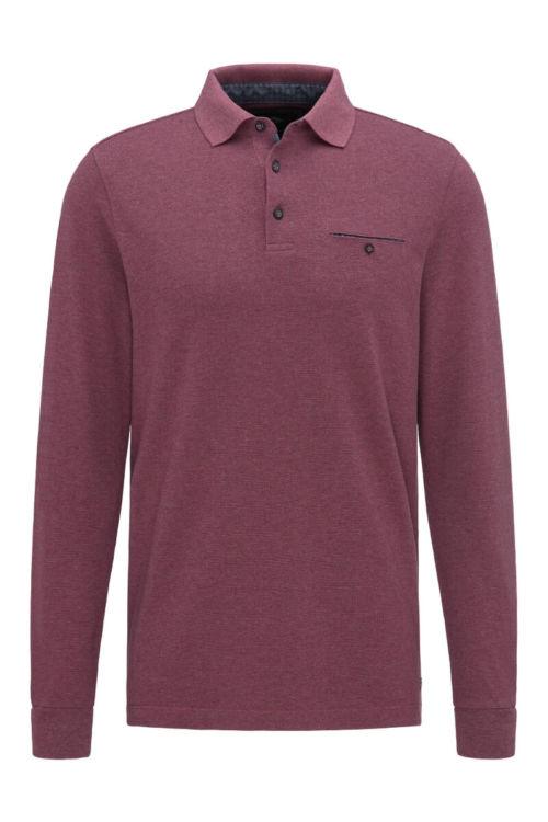 Muška polo majica u dvije boje sa strukturom - Fynch Hatton