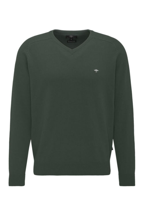 Muški pamučni pulover u tri tamne boje - Fynch Hatton