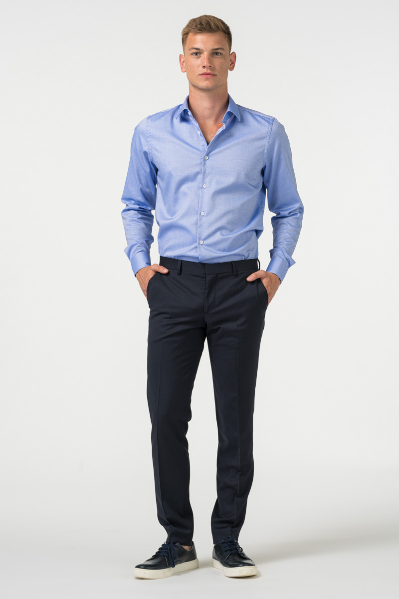 Varteks - Muške poslovne hlače od odijela u dvije boje 120's - Slim fit