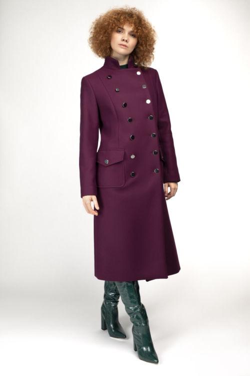 Ženski burgundy military kaput