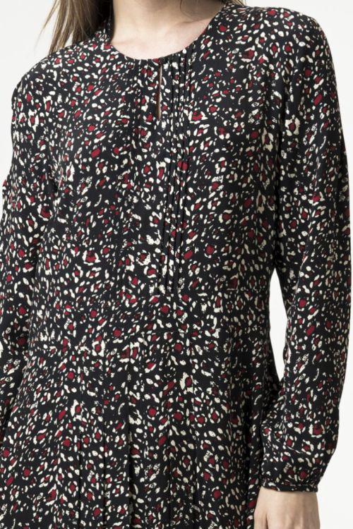 Lepršava haljina s decentnim uzorkom u dvije boje