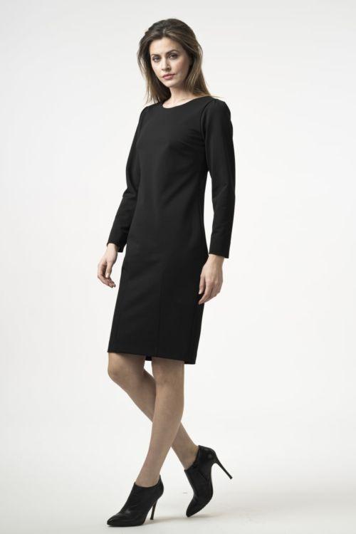 Klasična ženska crna haljina