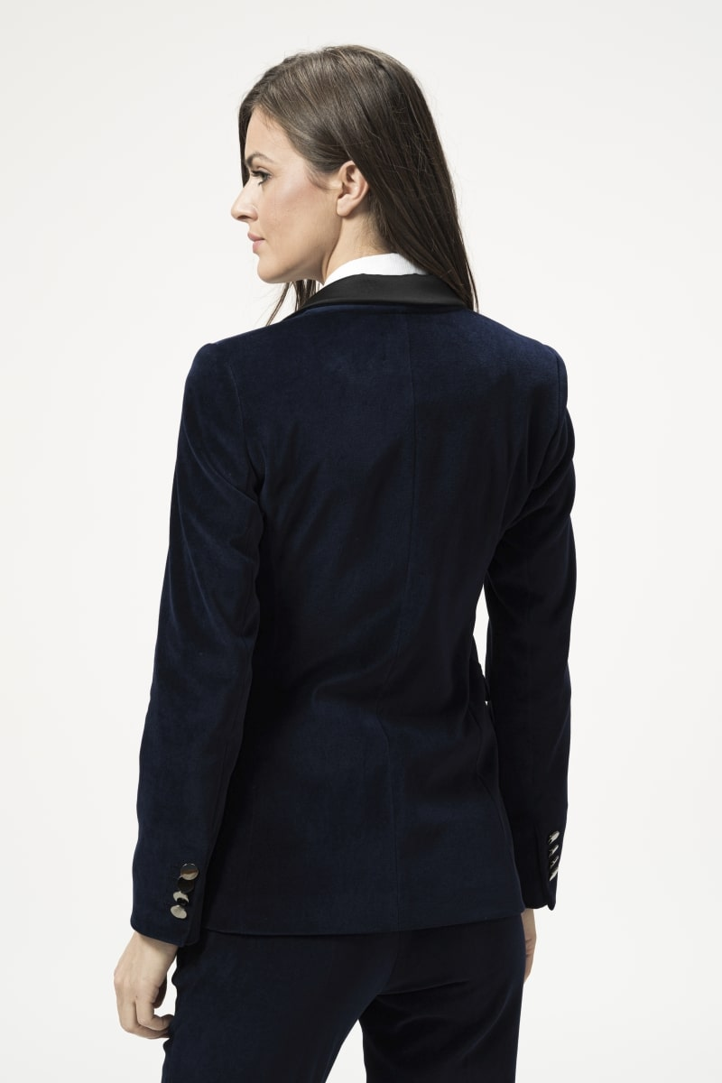 Varteks Women's plush jacket in dark blue