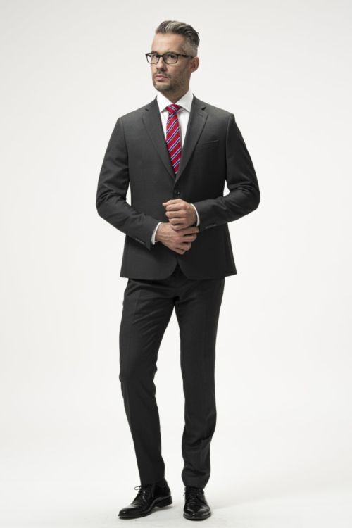 Muško odijelo od runske vune sive boje – Slim fit