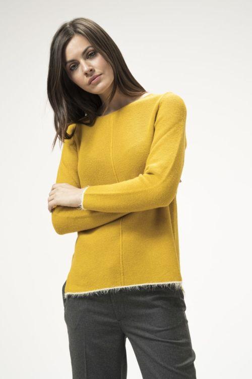 Ženski pulover u tri vedre boje
