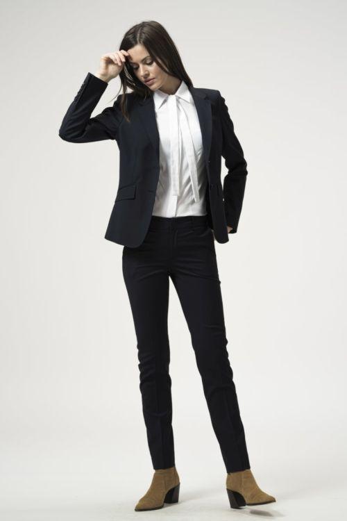 Ženske 7/8 hlače tamno plave boje