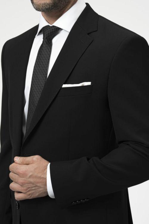 Klasično crno odijelo od runske vune - Regular fit