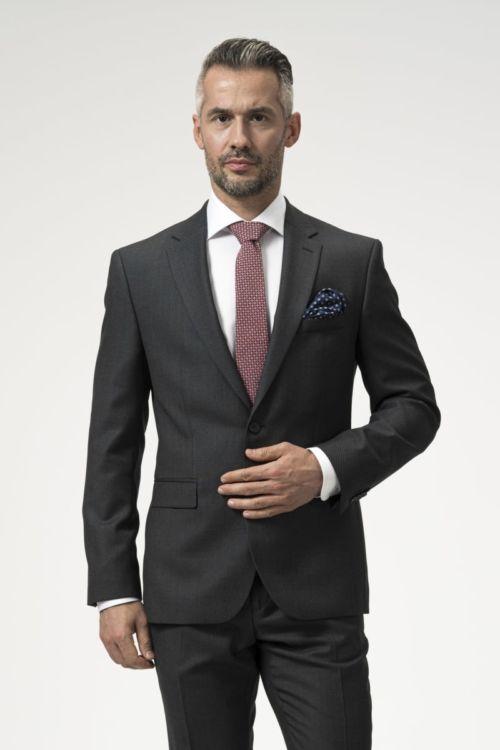 Muško sivo odijelo od runske vune - Regular fit