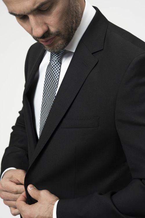 Klasično muško odijelo crne boje - Regular fit