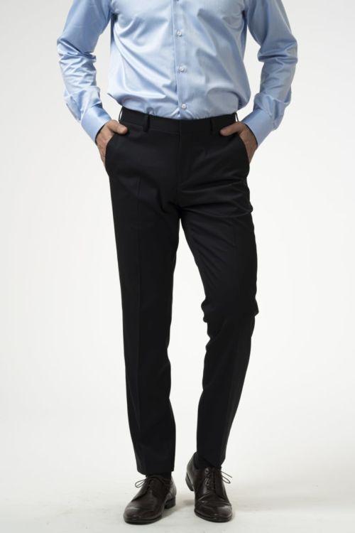 Tamno plave muške hlače od runske vune