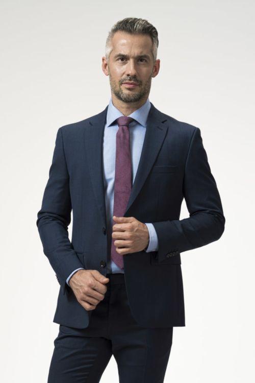 Muški sako plave boje od runske vune 110's - Regular fit