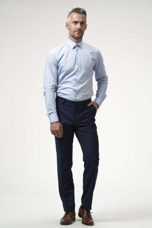 Muške hlače plave boje 100's - Regular fit