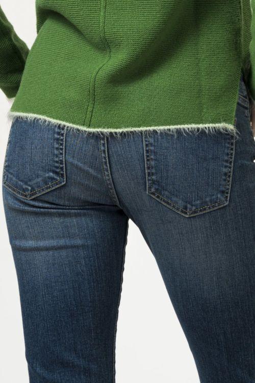 Ženske traper hlače uskog trapez kroja