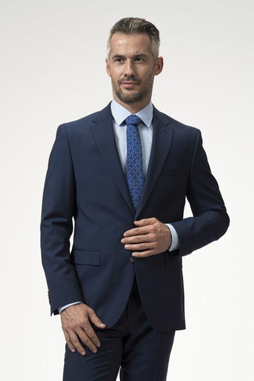 Muški sako plave boje 100's - Regular fit