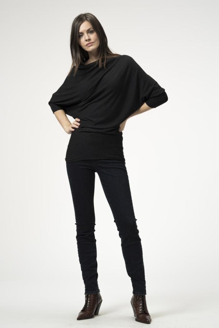 Ženske plave jeans push up hlače