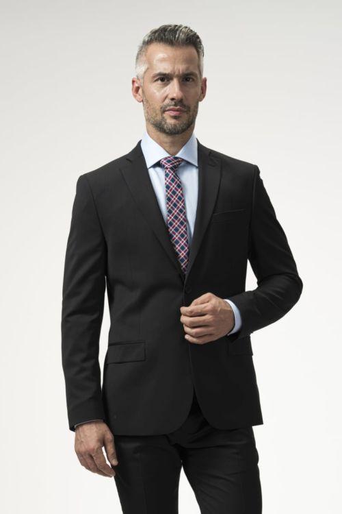 Muški crni poslovni sako 120's - Slim fit