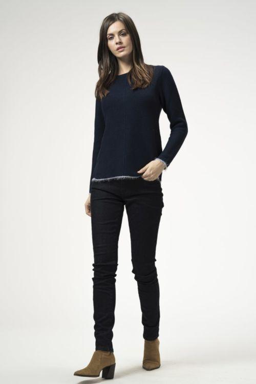 Ženske denim plave skinny traper hlače