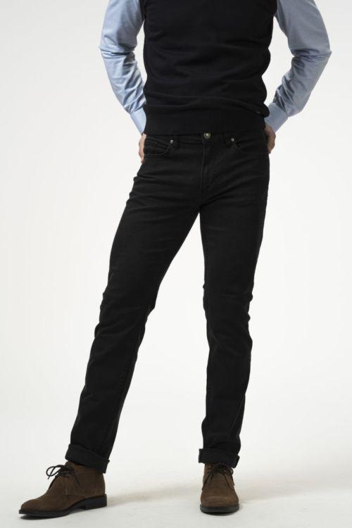 Muške crne traper hlače - Slim fit