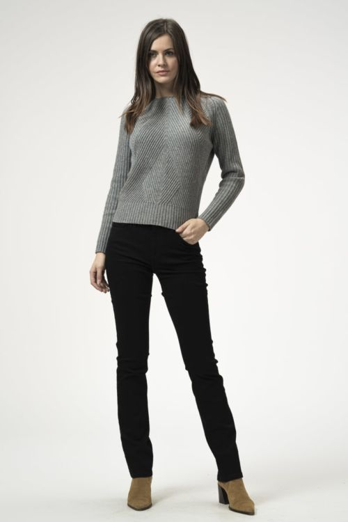 Ženske crne traper hlače straight leg
