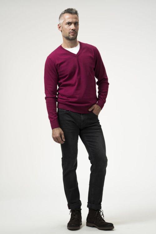 Muške tamno sive traper hlače - Regular fit