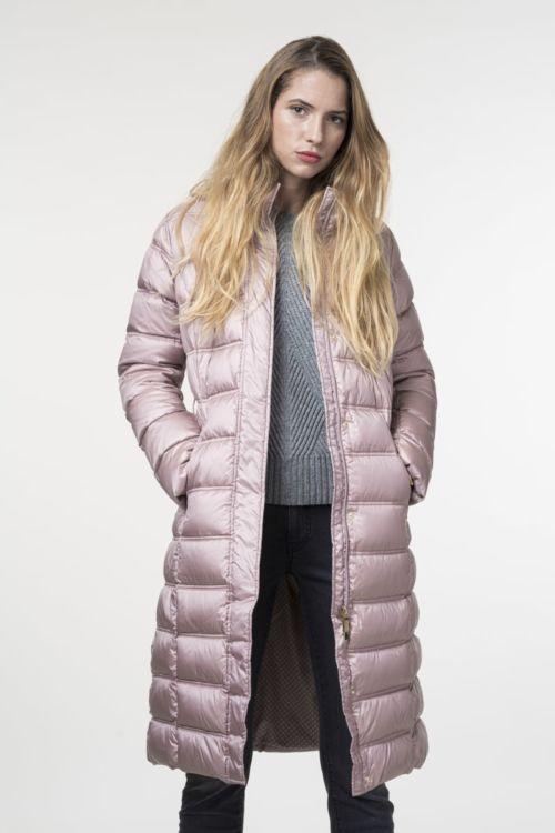 Ženska duga jakna u dvije boje