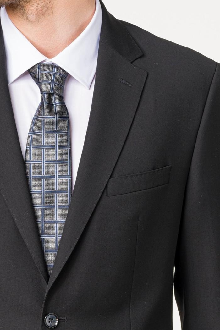 Klasično crno odijelo od runske vune – Regular fit