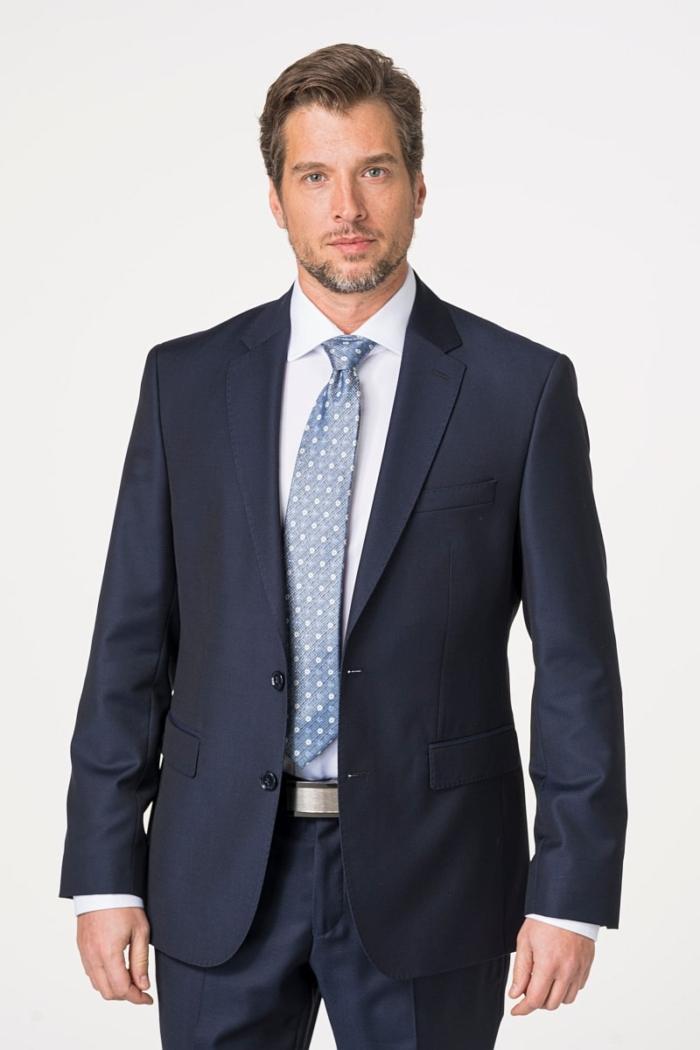 Tamno plavo odijelo od runske vune - Regular fitTamno plavo odijelo od runske vune - Regular fit