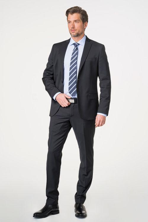 Muško crno odijelo 120's - Slim fit