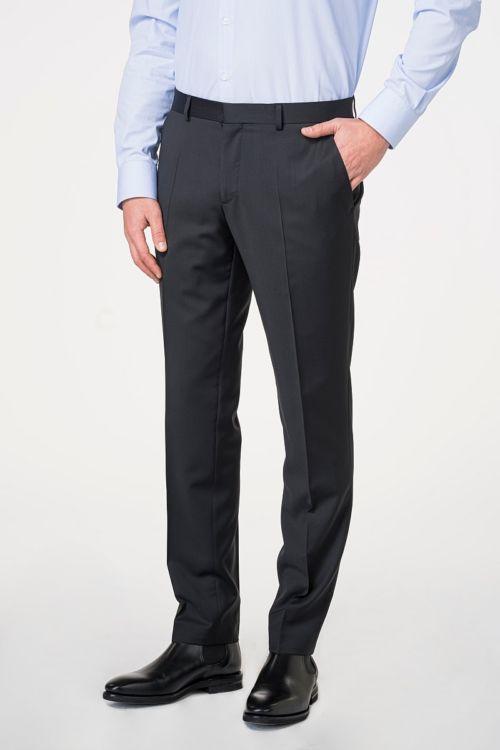 Muške crne poslovne hlače od odijela 120's - Slim fit