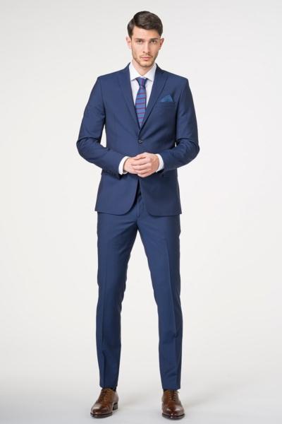 Muško odijelo otvoreno plave boje 100's - Slim fit