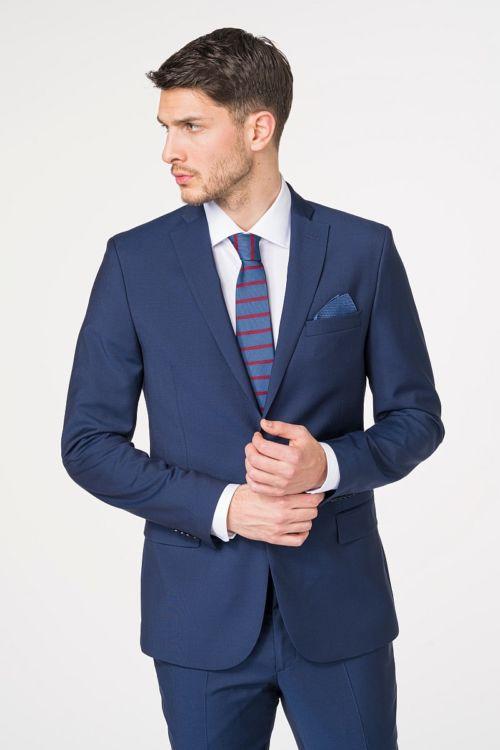 Muški sako od odijela plave boje 100's - Slim fit