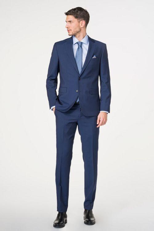 Moderno muško odijelo otvoreno plave boje 100's - Regular fit